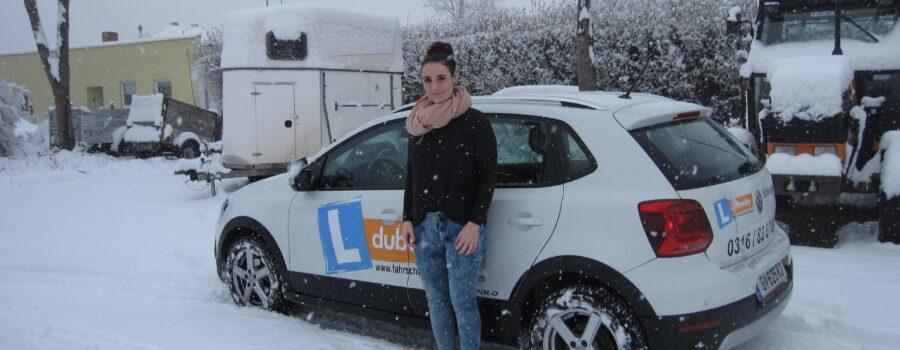 Schnee Fahrt
